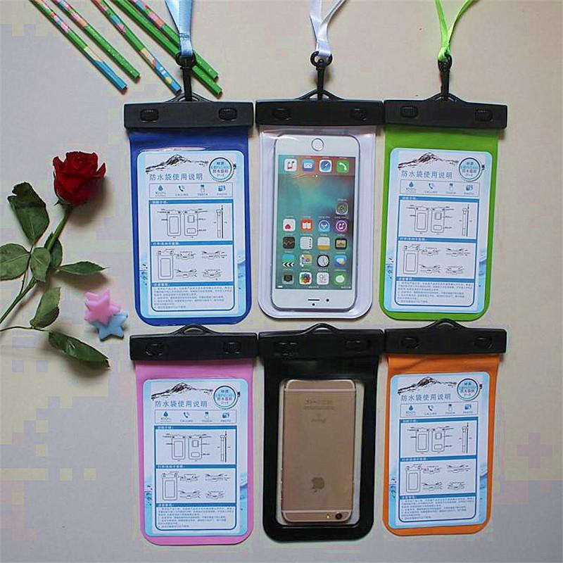 2016 Transparent PVC Durable Waterproof Bag 100% Sealed Phone Cases Pouch For iPhone 6plus/6/5S/4S For Samsung S2/S3/S4/S5/S6/S7
