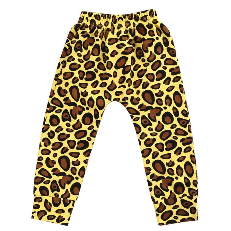 2017 Autumn Winter Cotton New Fashion CUTE Newborn Infant Baby Boy Girls LOVELY Leopard Yellow Bottom Pants Leggings Trousers