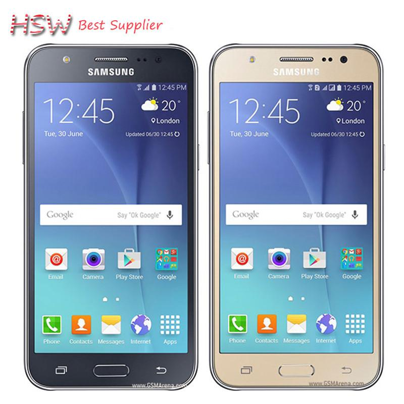 "100% Original Samsung galaxy J5 Dual Sim Unlocked Cell Phone Quad core FDD-LTE 2GB RAM 16GB ROM 5.0 "" WCDMA Refurbished"