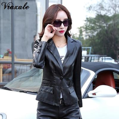 0052c77deb408 Female Leather Coat 2017 Autumn Leather Clothing Women s Design Short Slim  Motorcycle Jacket Coat Women s Plus Size L-5XL Write Review
