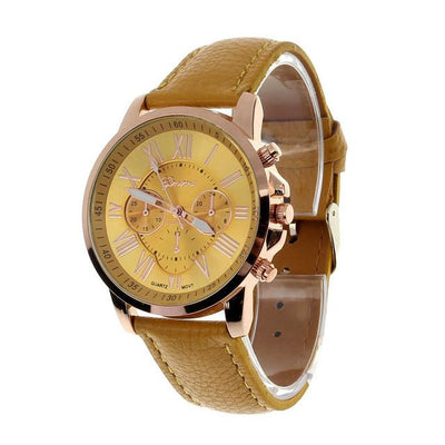 Best Selling Wrist watches for Women Fashion Roman Numerals Cheap Clock Leather Quartz Watch Female Hour Reloj Mujer Watch Satt
