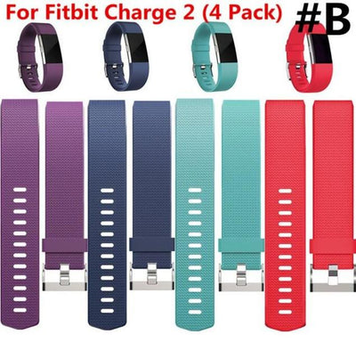 (5 Pack )Replacement Silicone Rubber Band Strap Wristband Bracelet For Fitbit CHARGE 2 Small or Large Size - Dailytechstudios