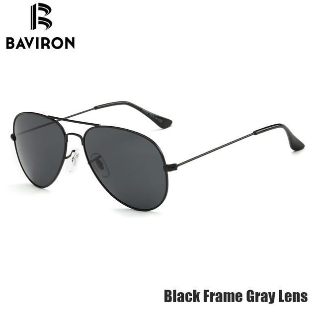 874a502587 BAVIRON Classic Aviator Sunglasses Men Polarized Retro Glasses Cool Pilot  Driving Sun Glasses Man s Metal Toad