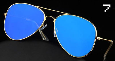 Best Selling Free Shipping Reflective Mirrored Aviator Sunglasses UV400 protection