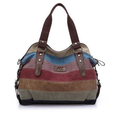 2015 Canvas handbags top quality women shoulder bags designer totes casual shoulder bag messenger bag color block large totes Shoulder Bags YIWU Global Trade- upcube
