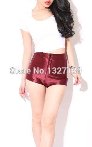 03 NEW High Waist Women Girls Shiny Stretch Disco Shorts Fashion Apparel Hot shorts - Dailytechstudios