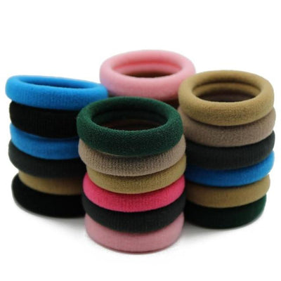 #AD0043 24pcs/lot 3cm Elastic Gum Wholesale Fluorescence/Black/Candy Colors Rezinochki Women/Children Hair Accessories Scrunchy - Dailytechstudios