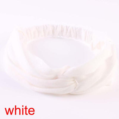 1 pcs Stylish Women Knotted Hairband Cotton Elastic Turban Twisted Cross Headband Sport Running Head Wrap Hair Accessories - Dailytechstudios