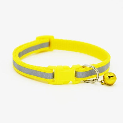 1.0cm/1.5cm Width Small Dogs Cat Collar Puppy Nylon Reflective Pet Dog Collar Necklace with Bell For Dog Supplies - Dailytechstudios