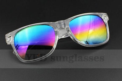 (5 Colors)HOT Vintage Retro Female Sunglasses Clear Frame Coating Sun Glasses For Women Brand Designer Women's Glasses goggles - Dailytechstudios