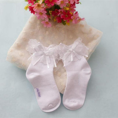 1Pair New Fashion Spring Summer Cute Baby Girls Lace Ruffle Frilly Ankle Socks Sweet Princess Cotton Short Socks  Malaysian monkey of Debbie_- upcube