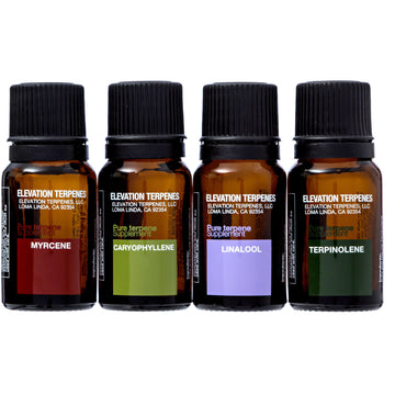 Elevation Terpenes Relaxation Four Pack (Beta Caryophyllene, Linalool, Myrcene, Terpinolene) - Elevation Terpenes