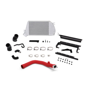 Mishimoto 2015 Subaru WRX Top-Mount Intercooler Kit - Powder Coated Silver & Wrinkle Red Pipes