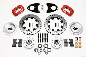 Wilwood Forged Dynalite Front Kit 12.19in Drilled Red 71-80 Pinto/Mustang II Disc & Drum