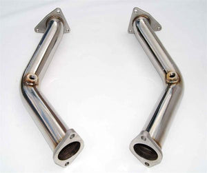 Invidia 02-06 Nissan 350Z G35 FX35 60mm Test Pipes (w/ Bracket) and Cel