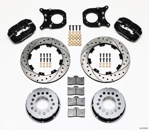 Wilwood Forged Dynalite P/S Rear Kit Drilled Rotor Chev 12 Bolt w/Clip Eliminator