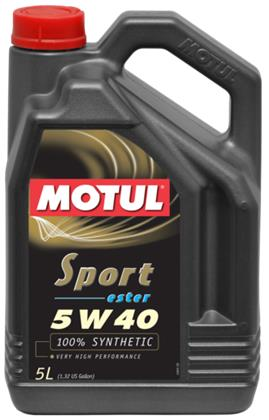 Motul 5L Synthetic Engine Oil Sport 5W40