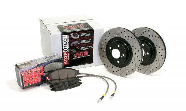Stoptech Sport Axle Pack, Drilled & Slotted, Front (06-08 350Z, 05-07 G35)