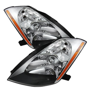 Xtune Nissan 350Z 03-05 (Hid Model Only) Crystal Headlights Chrome HD-JH-N350Z-HID-C