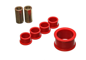 Energy Suspension 02-09 Nissan 350Z / 03-07 Infinity G35 Coupe Red Rack and Pinion Bushing Set
