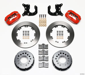 Wilwood Forged Dynalite P/S Rear Kit Red Chevy 12 Bolt-Spec 3.15in Brng