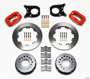 Wilwood Forged Dynalite P/S Rear Kit Red Chev 12 Bolt w/Clip Eliminator