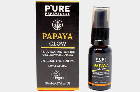 Papaya Glow Oil | Jojoba Oil | Rejuvenating & Moisturizing | Face, Nail & Hair Oil | Sensitive Skin | Vegan | Skin Care | P'ure Papayacare | Natural Wonders
