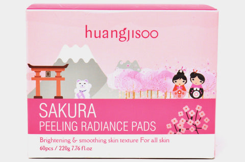 Sakura Peeling Radiance Pads in Canada Online | Brightening Skin | Face Wipe Pads | Skin Care | K-beauty | Huangjisoo | Natural Wonders
