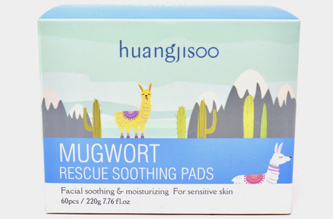 Mugwort Rescue Soothing Pads in Canada Online | Dry & Sensitive Skin | Face Wipe Pads | Skin Care | K-beauty | Huangjisoo | Natural Wonders