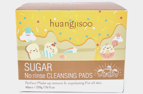 Sugar No Rinse Cleansing Pads in Canada Online | Makeup Remover | Exfoliating |  Face Wipe Pads | Skin Care | K-beauty | Huangjisoo | Natural Wonders