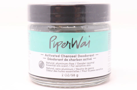 Activated Charcoal Deodorant | Natural | Aluminum-free | Gender Neutral | Essential Oils Scent | Sensitive Skin | Jar | Shark Tank | PiperWai | Natural Wonders