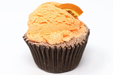 Natural handmade Chocolate Orange cupcake bath melts are made with shea butter and cocoa butter to help with dry skin. Natural Wonders, Handmade, fair trade, vegan, sensitive skin, kid friendly, eczema, psoriasis