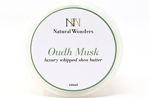 Oudh Royal Musk Whipped Shea Butter in Canada | Online Shop | Extra Hydration | Body Butter | Helps with cracked heels and dry elbows | Dry Skin | Eczema | Psoriasis | Oudh Musk | Natural Wonders