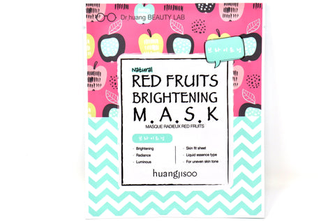 Shop online Natural Face Sheet Masks in Canada | Red Fruits | Brightening | Vegan | Dr. Huangjisoo | Natural Wonders