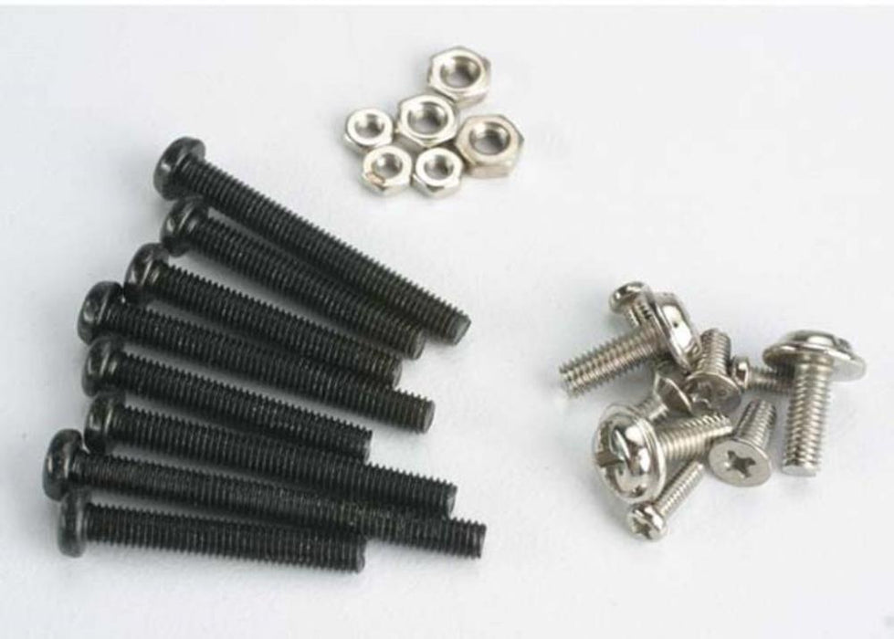 Traxxas 1250 - Screw Set, Machine Screw & Nut Set (Black) (Tom Cat/ Spirit)