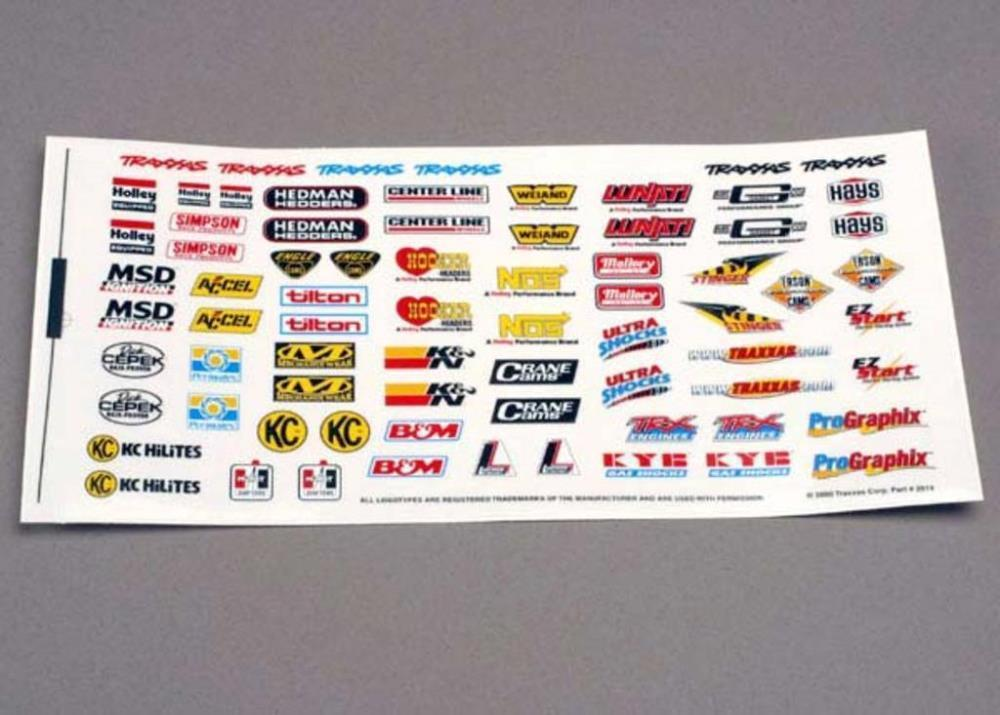 Traxxas 2514 - Decal Sheet, Racing Sponsors