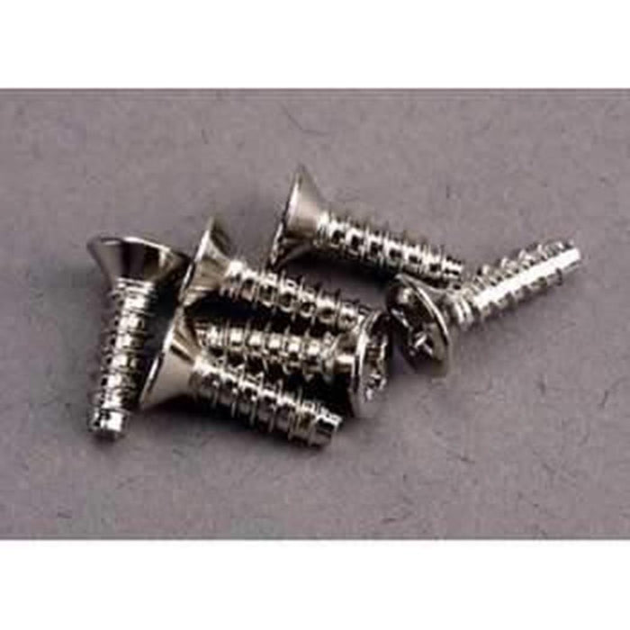 Traxxas 3176 - Screws, 3X10Mm Countersunk Self-Tapping (6)