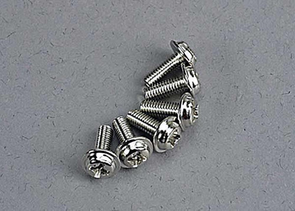 Traxxas 3185 - Motor Screws (3X8Mm Washerhead Machine) (6)