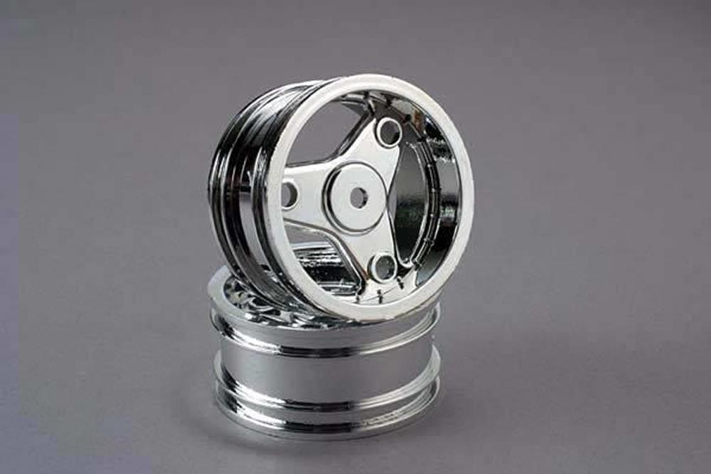 Traxxas 4372 - Wheels, Chrome, Three-Spoke (2)
