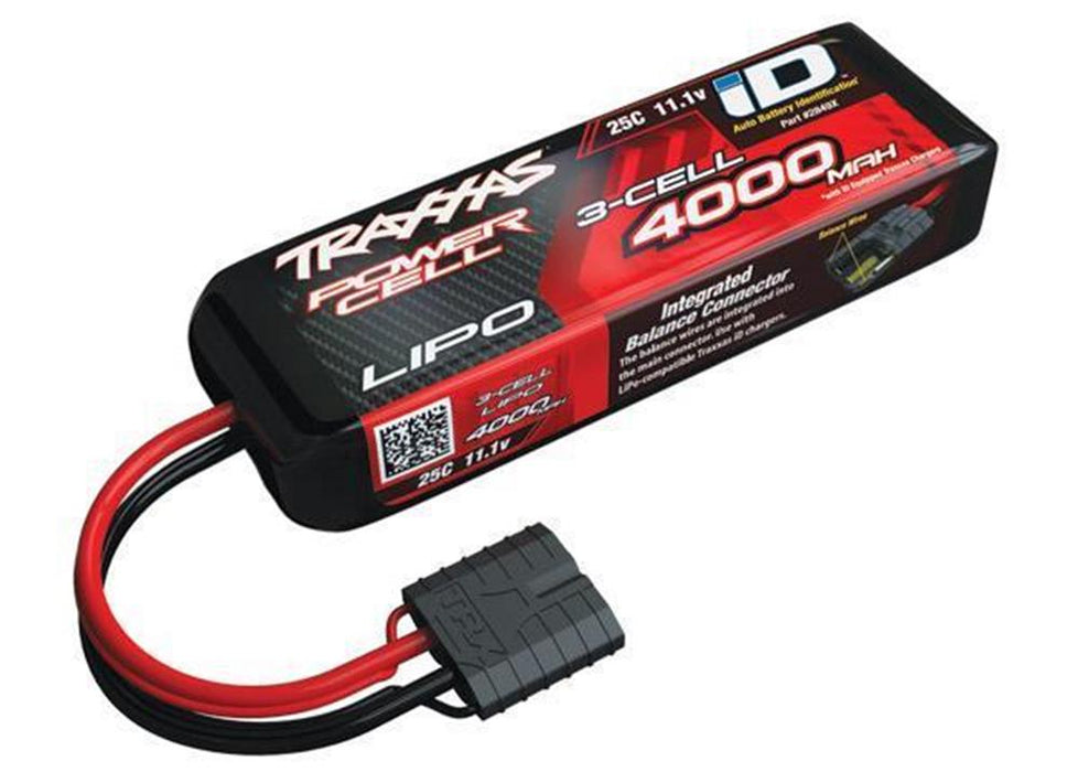 Traxxas 2849X - 4000mah 11.1v 3-Cell 25C LiPO Battery w/ID
