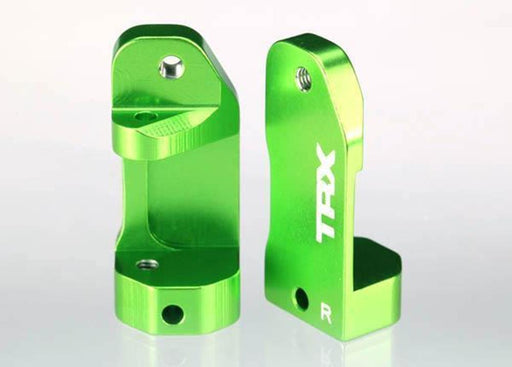 Traxxas 3632G - Caster Blocks, 30-Degree, Green-Anodized 6061-T6 Alumin