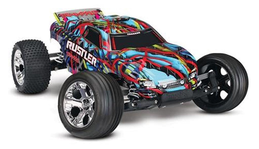 Traxxas 37054-4  R5 - Rustler 1/10 Scale Stadium Truck - Excludes Battery & Charger