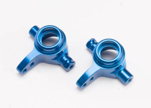 Traxxas 6837X - Steering Blocks, 6061-T6 Aluminum, Left & Right (Blue-A