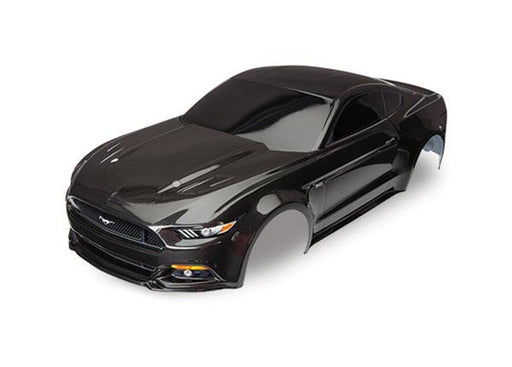 Traxxas 8312X - Body, Ford Mustang, Black (Painted, Decals Applied)