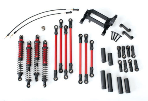 Traxxas 8140R - Long Arm Lift Kit, Trx-4, Complete (Includes Red Powder Coated Links, Red-Anodized Shocks)