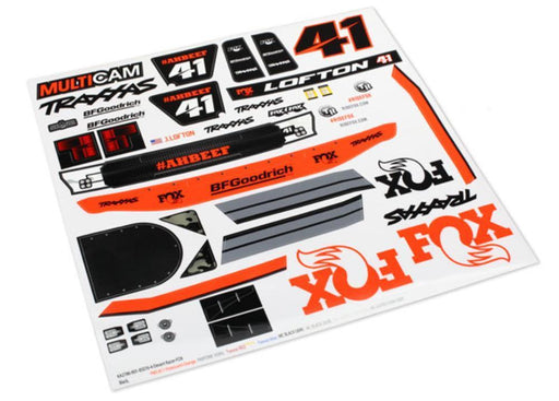Traxxas 8515 - Decals, Unlimited Desert Racer, Fox Edition