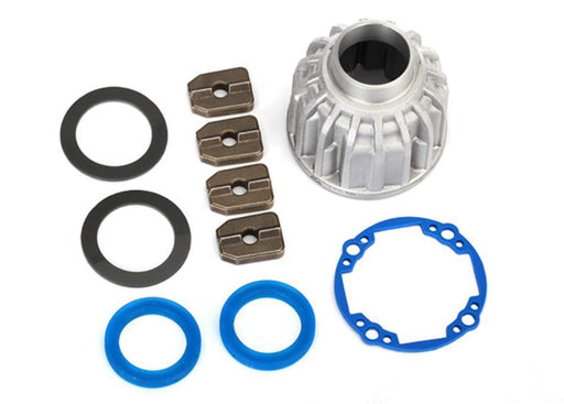 Traxxas 8581X - Carrier, Differential, Aluminum (Front Or Center)/ X-Ring Gaskets (2), Ring Gear Gasket/ 14.5X20 Tw (2)