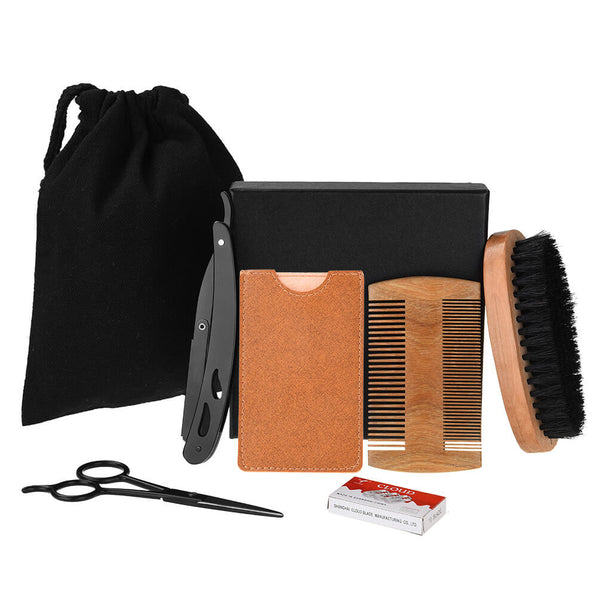 PrettySee Men Beard Comb Brush Set Beard Grooming Trimming Beard Brush - PrettySee Beauty & Personal Care | Professional, High Quality | PrettySee