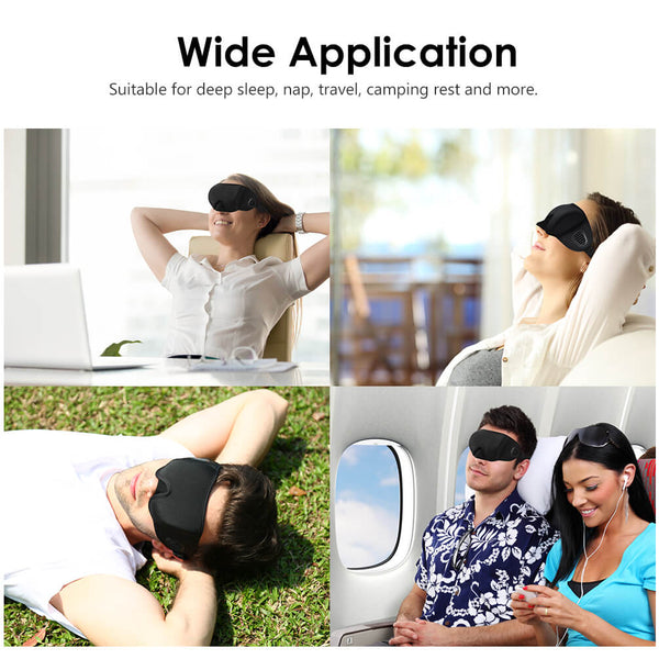 PrettySee 3D Sleep Mask Blindfold Eye Mask with Noise-Proof Design - PrettySee Beauty & Personal Care | Professional, High Quality | PrettySee