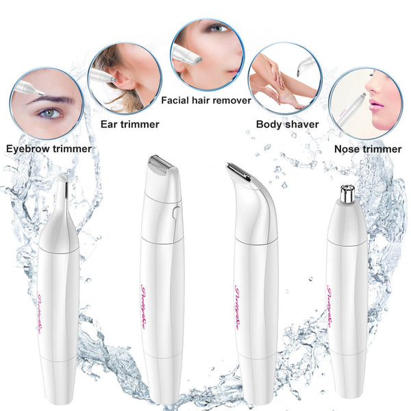 PrettySee 4 in 1 Multifunctional Hair Remover Kit USB Rechargeable Hair Trimmer Waterproof Hair Remover - PrettySee Beauty & Personal Care | Professional, High Quality | PrettySee